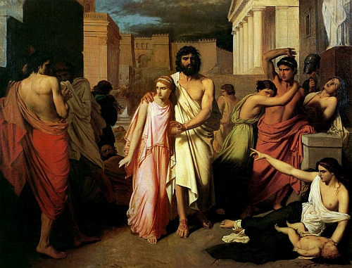 the dramatic irony in oedipus rex by sophocles Effective dramatic irony in oedipus the king, sophocles creates rising action by asking dramatic questions throughout the play these questions generate suspense in the audience when they become dramatic irony and amplify the climax.